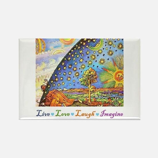 Live Love Laugh Imagine Rectangle Magnet