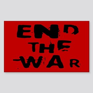 end the war... Rectangle Sticker