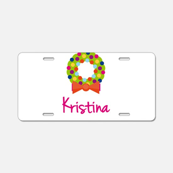 Christmas Wreath Kristina Aluminum License Plate