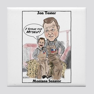 """Tester 2"" Tile Coaster"