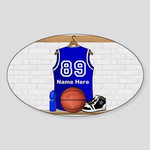 Personalized Basketball Jerse Sticker (Oval 10 pk)
