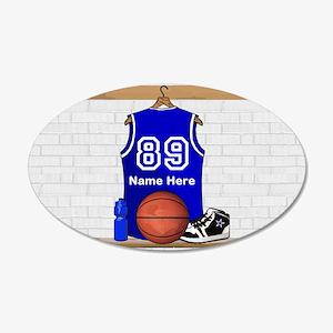 Personalized Basketball Jerse 22x14 Oval Wall Peel