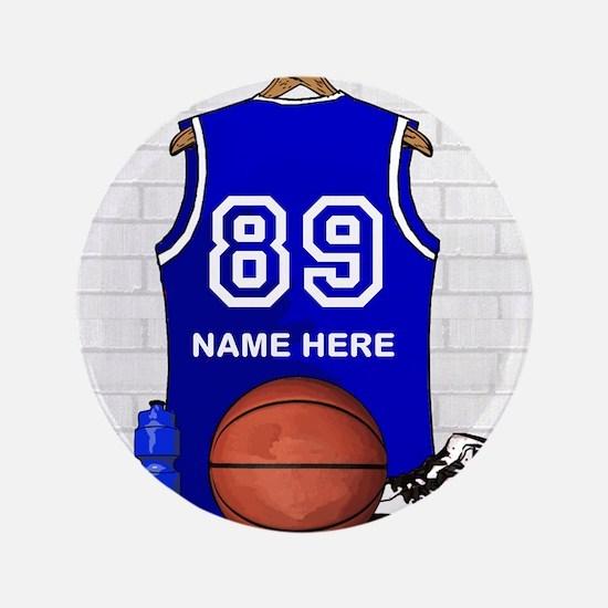 """Personalized Basketball Jerse 3.5"""" Button"""