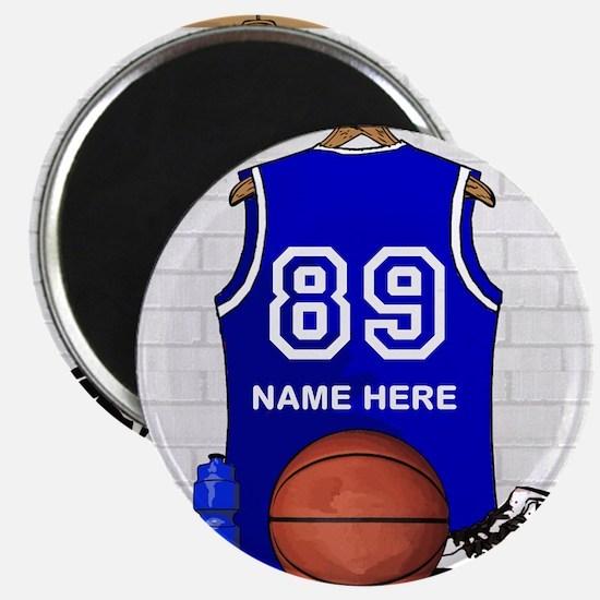 Personalized Basketball Jerse Magnet