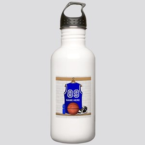 Personalized Basketball Jerse Stainless Water Bott