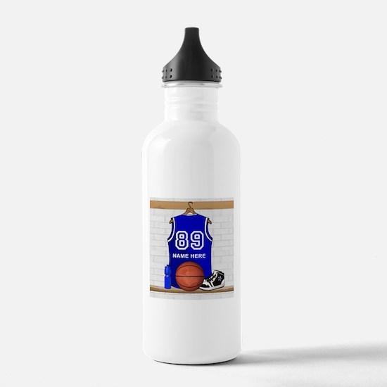 Personalized Basketball Jerse Water Bottle