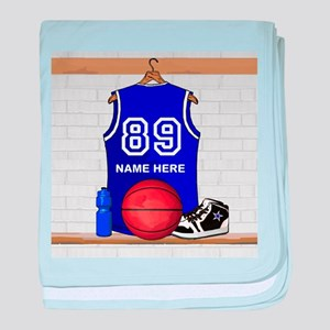 Personalized Basketball Jerse baby blanket