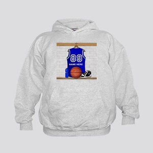 Personalized Basketball Jerse Kids Hoodie
