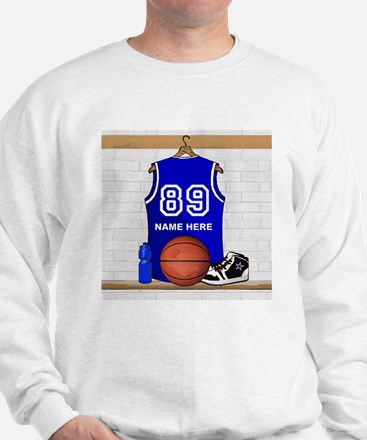 Personalized Basketball Jerse Sweatshirt