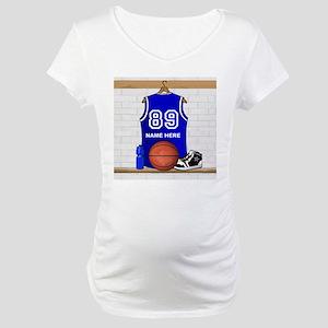 Personalized Basketball Jerse Maternity T-Shirt