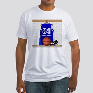 Personalized Basketball Jerse Fitted T-Shirt