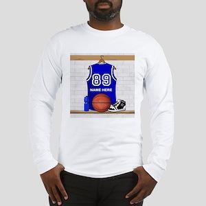Personalized Basketball Jerse Long Sleeve T-Shirt
