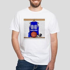 Personalized Basketball Jerse White T-Shirt
