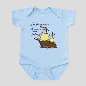 I'm always late Infant Bodysuit