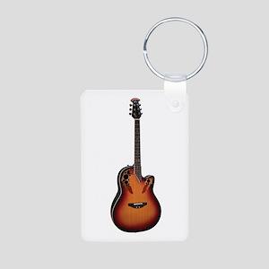 Ovation Guitar Aluminum Photo Keychain