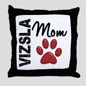 Vizsla Mom 2 Throw Pillow