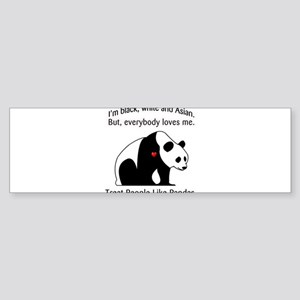 Treat People Like Pandas Sticker (Bumper)
