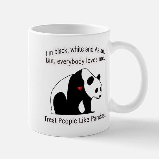 Treat People Like Pandas Mug