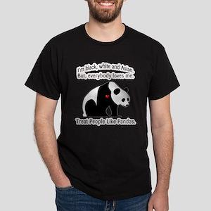 Treat People Like Pandas Dark T-Shirt