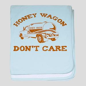 Honey Wagon Don't Care baby blanket