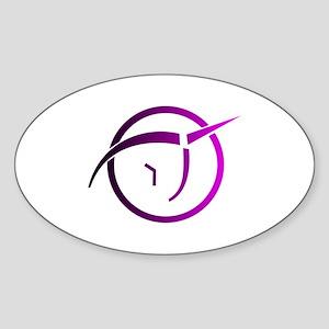 Invisible Pink Unicorn Sticker (Oval)