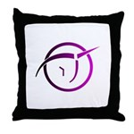 Invisible Pink Unicorn Throw Pillow