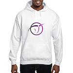 Invisible Pink Unicorn Hooded Sweatshirt