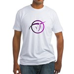 Invisible Pink Unicorn Fitted T-Shirt