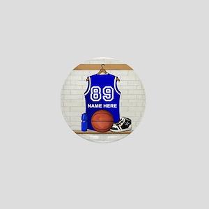 Personalized Basketball Jerse Mini Button
