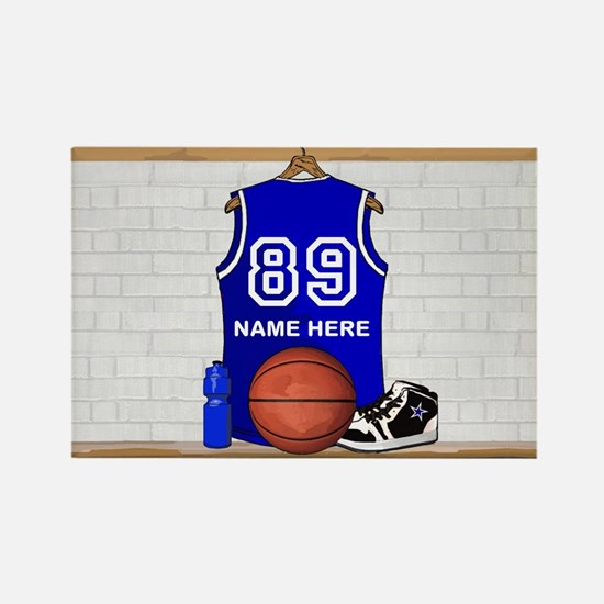 Personalized Basketball Jerse Rectangle Magnet