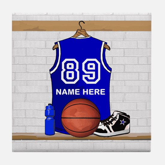 Personalized Basketball Jerse Tile Coaster