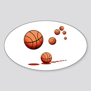 Basketball (A) Sticker (Oval)