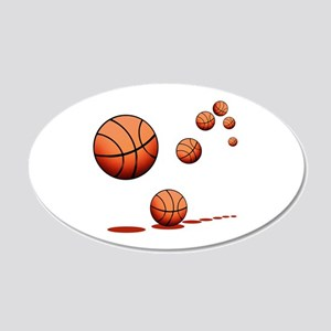 Basketball (A) 20x12 Oval Wall Decal