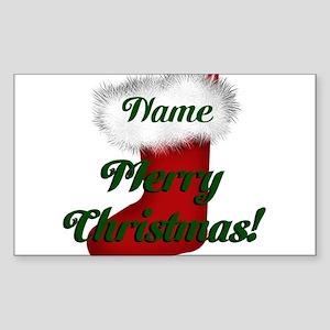 Christmas Stocking Sticker (Rectangle)