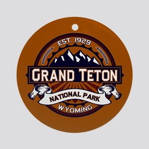 Grand Teton Vibrant Ornament (Round)