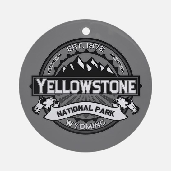 Yellowstone Ansel Adams Ornament (Round)
