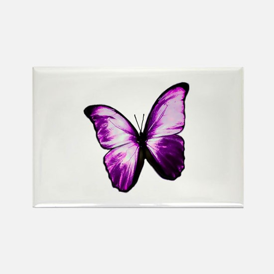 Purple Butterfly Rectangle Magnet
