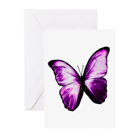 Purple Butterfly Greeting Cards (Pk of 20)