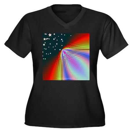 Rainbow to the Stars - Women's Plus Size V-Neck Da