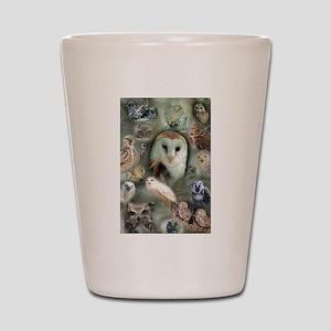 Happy Owls Shot Glass