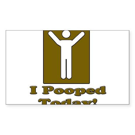 PooTmanbrown Sticker (Rectangle)