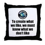 What We Like Throw Pillow
