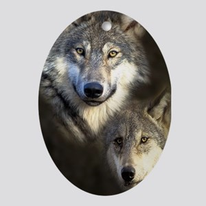 Wolfpack Oval Ornament