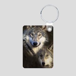Wolfpack Aluminum Photo Keychain