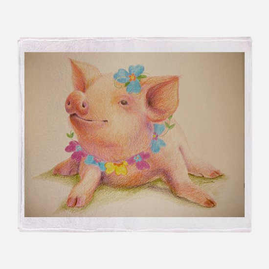 Oink Throw Blanket