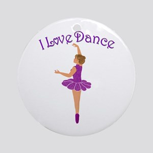 I Love Dance Ornament (Round)