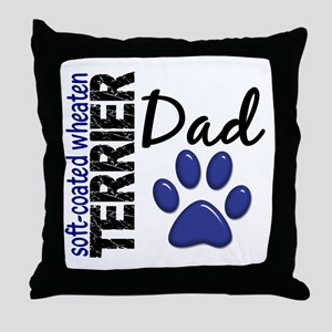 Soft-Coated Wheaten Terrier Dad 2 Throw Pillow