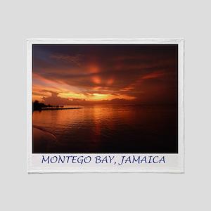 Montego Bay Sunset Throw Blanket