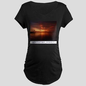 Montego Bay Sunset Maternity Dark T-Shirt