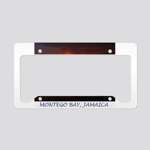 Montego Bay Sunset License Plate Holder